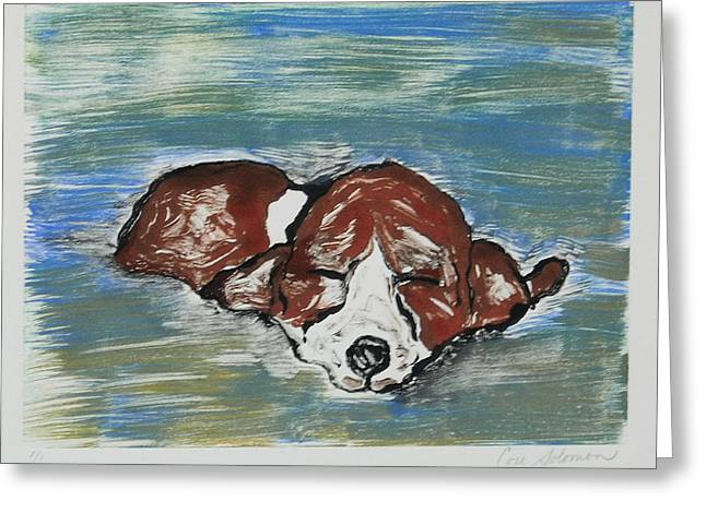 Hand Pulled Print Greeting Cards - Sweet Dreams Greeting Card by Cori Solomon