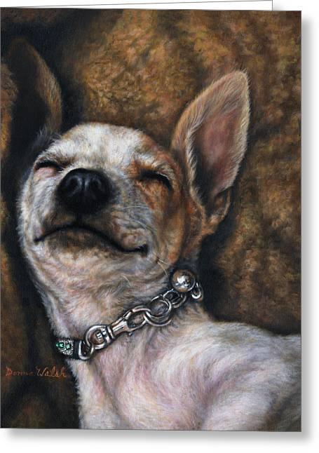 Dog Sleeping Greeting Cards - Sweet Dreams Greeting Card by Donna  Hillman Walsh