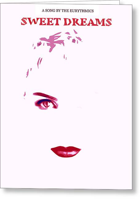 Annie Lennox Greeting Cards - Sweet Dreams Greeting Card by Simplify Your Art