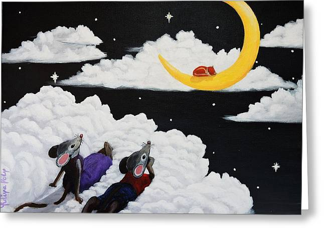 Whimsical. Greeting Cards - Sweet Dreams Greeting Card by Yuliya Poly