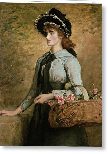 Emma Greeting Cards - Sweet Emma Morland Greeting Card by Sir John Everett Millais