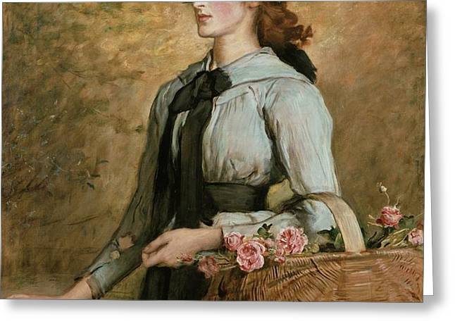 Sweet Emma Morland Greeting Card by Sir John Everett Millais