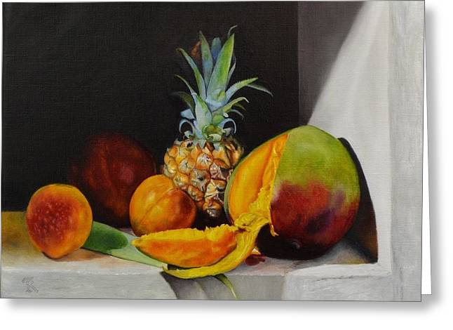 Mango Greeting Cards - Sweet Fruit Greeting Card by Ralph Taeger