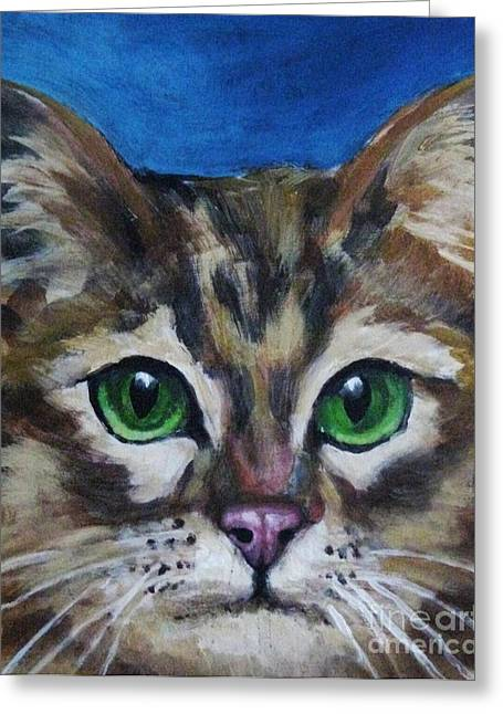 Johnmaloneartist.com Greeting Cards - Sweet Green Eyes  Greeting Card by John Malone