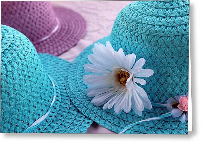 Sweet Hats Greeting Card by Vicki Kennedy