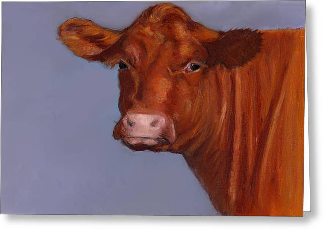 Joyce Geleynse Greeting Cards - Sweet Hereford Cow Greeting Card by Joyce Geleynse