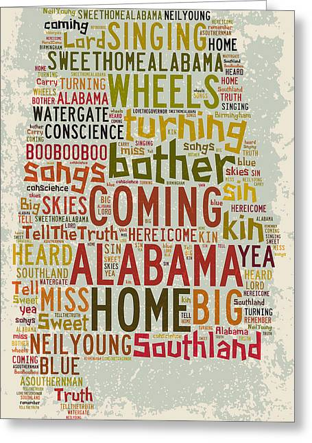 Paulette Wright Digital Art Greeting Cards - Sweet Home Alabama 1 Greeting Card by Paulette B Wright