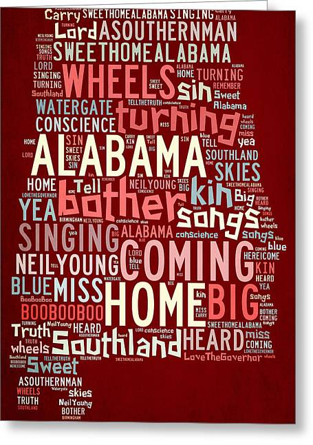 Paulette Wright Digital Art Greeting Cards - Sweet Home Alabama 4 Greeting Card by Paulette B Wright
