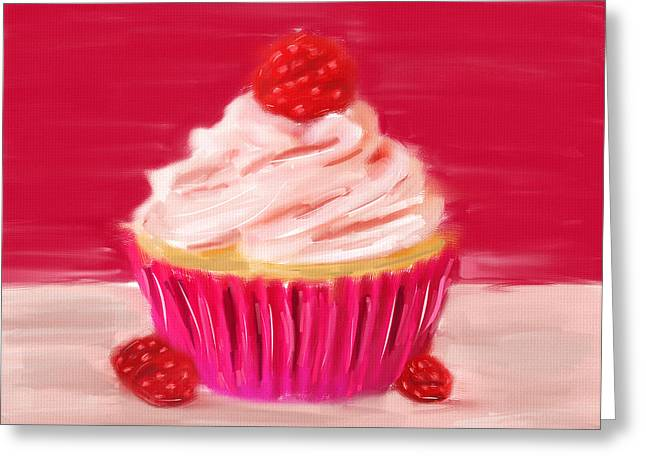 Cupcakes Greeting Cards - Sweet Indulgence Greeting Card by Lourry Legarde
