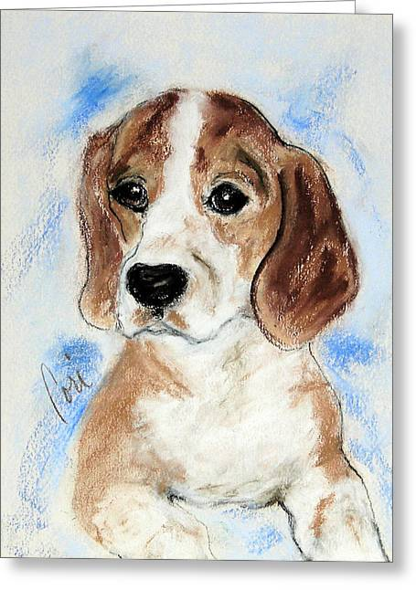 Best Sellers -  - Puppies Pastels Greeting Cards - Sweet Innocence Greeting Card by Cori Solomon