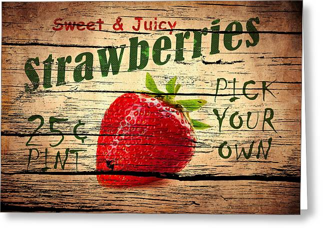 Strawberry Greeting Cards - Sweet Juicy Strawberries Greeting Card by Mark Rogan