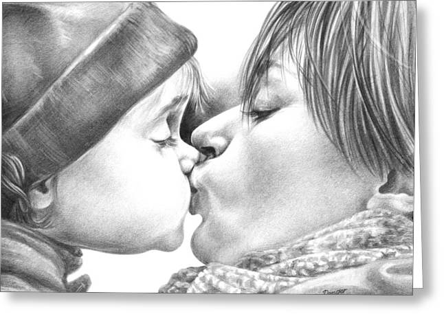 A Kiss Greeting Cards - Sweet Kiss Greeting Card by Natasha Denger