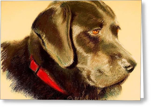 Labradors Pastels Greeting Cards - Sweet Labrador Greeting Card by Nancy Beauchamp