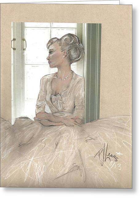 Hair Styles Mixed Media Greeting Cards - Sweet Lady Anne Greeting Card by P J Lewis