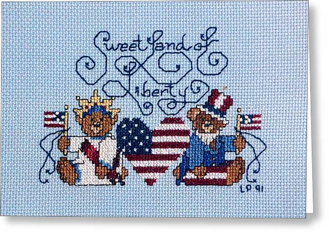 Handwork Greeting Cards - Sweet Liberty Greeting Card by Linda Phelps
