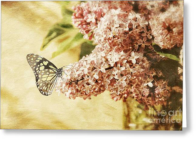 Sweet Lilacs Greeting Card by Lois Bryan