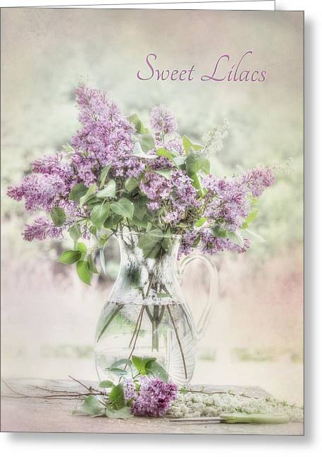 Sweet Lilacs Greeting Card by Lori Deiter