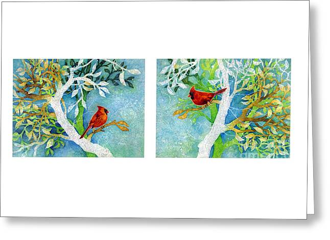 Nesting Greeting Cards - Sweet Memories Diptych Greeting Card by Hailey E Herrera