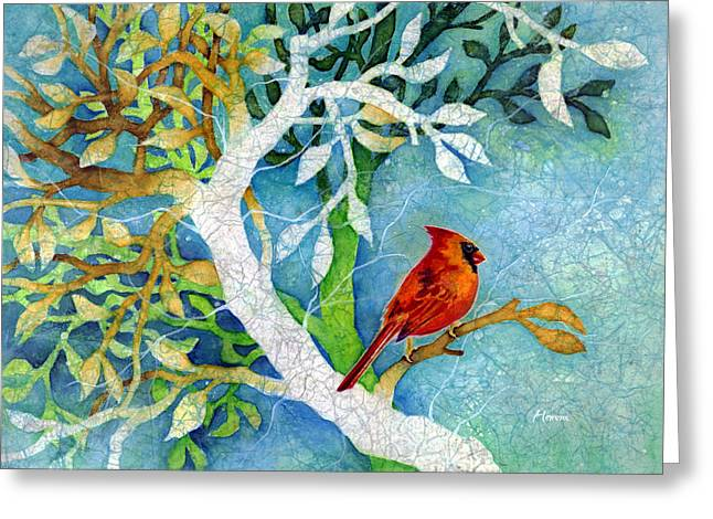 Female Northern Cardinal Greeting Cards - Sweet Memories I Greeting Card by Hailey E Herrera