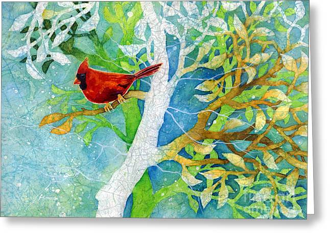 Male Northern Cardinal Greeting Cards - Sweet Memories II Greeting Card by Hailey E Herrera