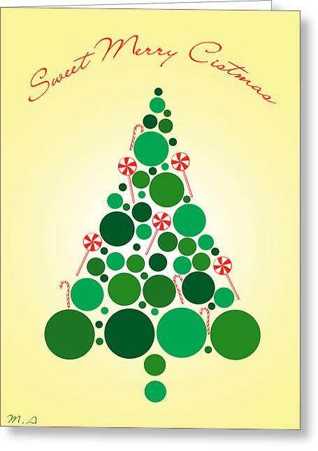 Sweet Merry Christmas Greeting Card by Mark Ashkenazi