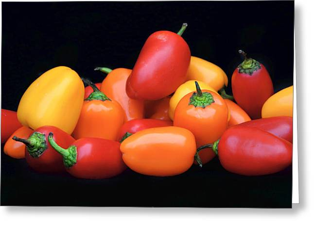 Flavorful Greeting Cards - Sweet Mini Peppers Greeting Card by Nikolyn McDonald