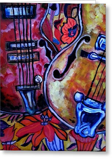 Chello Greeting Cards - Sweet Music Greeting Card by Stephanie Dunn