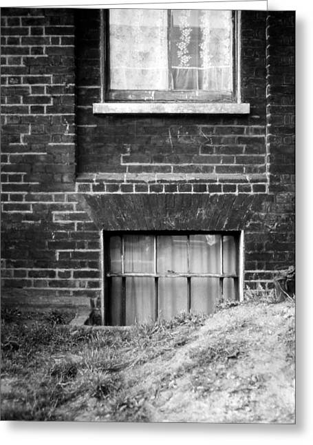 Basement Drawings Greeting Cards - Sweet Mystery Of...windows Greeting Card by David M Davis