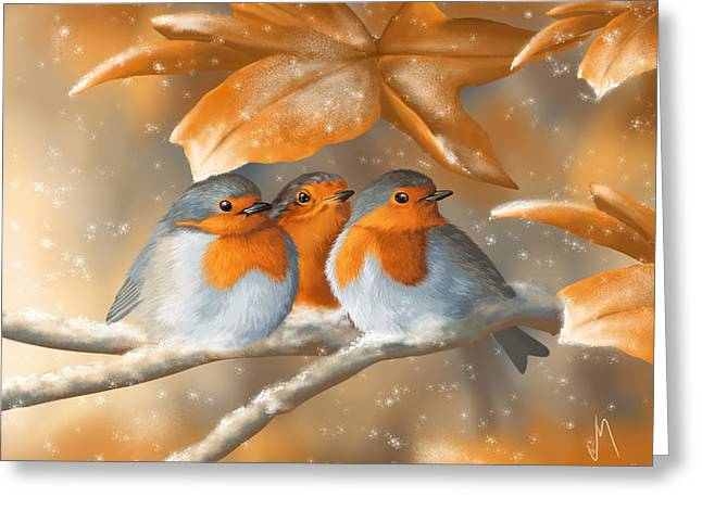 Snowflake Greeting Cards - Sweet nature Greeting Card by Veronica Minozzi