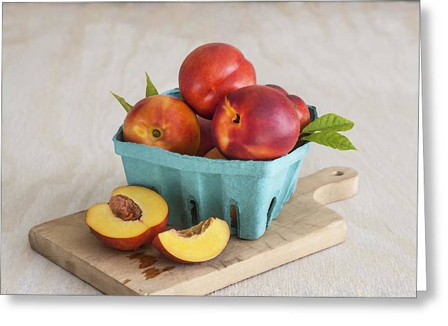Fruit Stand Greeting Cards - Sweet Nectarines Greeting Card by Rich Franco