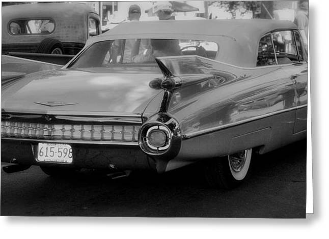 Caddy Mixed Media Greeting Cards - Sweet Old Cadillac Greeting Card by Todd and candice Dailey