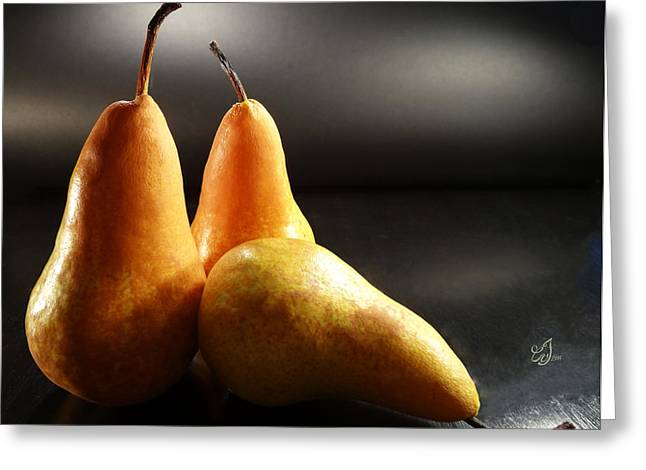 Grocery Store Greeting Cards - Sweet Pears Greeting Card by Music of the Heart