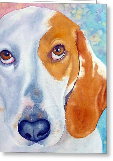 Basset Hound Prints Greeting Cards - Sweet Polly Greeting Card by Marie Stone Van Vuuren