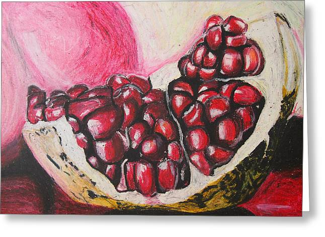 Sour Pastels Greeting Cards - Sweet pomegranate Greeting Card by Michael Amos