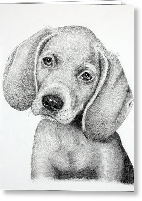 Sweet Puppy Love Greeting Card by Lorraine Foster