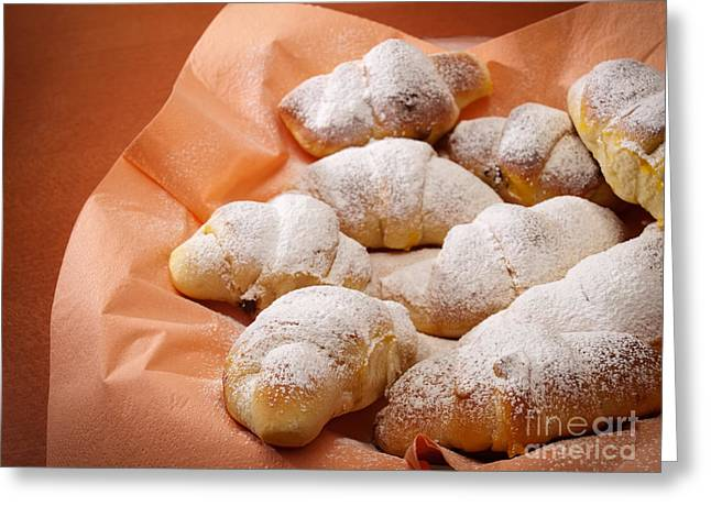 Croissant Greeting Cards - Sweet rolls Greeting Card by Sinisa Botas
