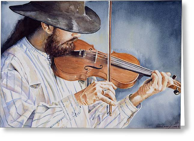 Period Paintings Greeting Cards - Sweet Serenade Greeting Card by Don Dane