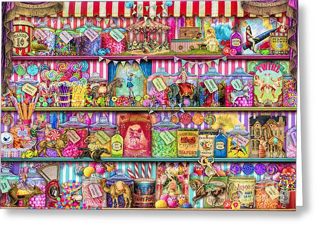 Fizz Greeting Cards - Sweet Shoppe Greeting Card by Aimee Stewart