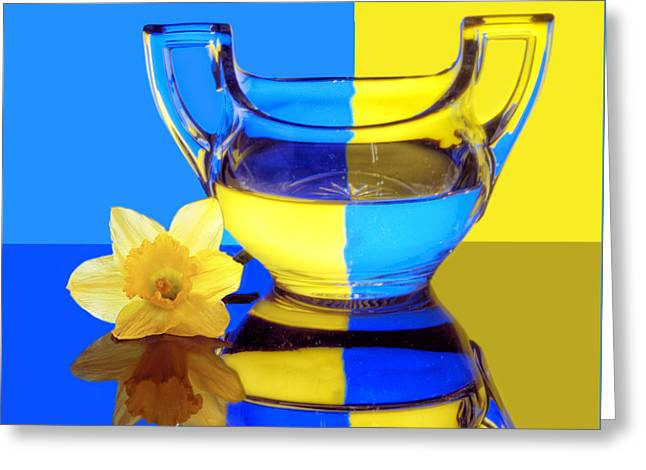 Glass Reflecting Greeting Cards - Sweet Springtime Greeting Card by Nikolyn McDonald