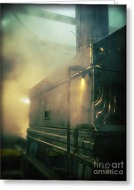 Sweet Steam Greeting Card by Edward Fielding