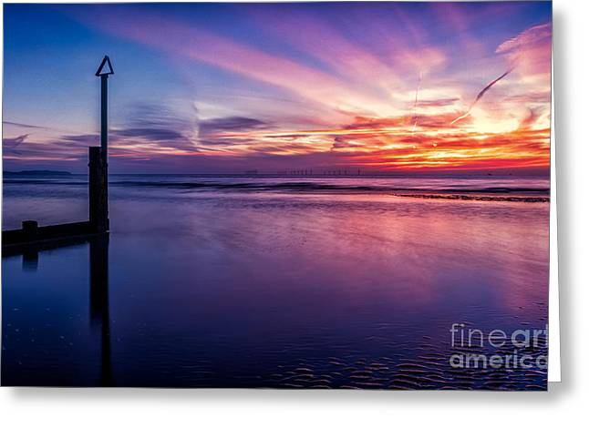 Sunset Seascape Greeting Cards - Sweet Sunset Greeting Card by Adrian Evans