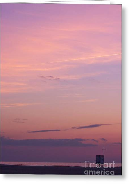 Sunset.sky Greeting Cards - Sweet Sunset Greeting Card by Angela Doelling AD DESIGN Photo and PhotoArt