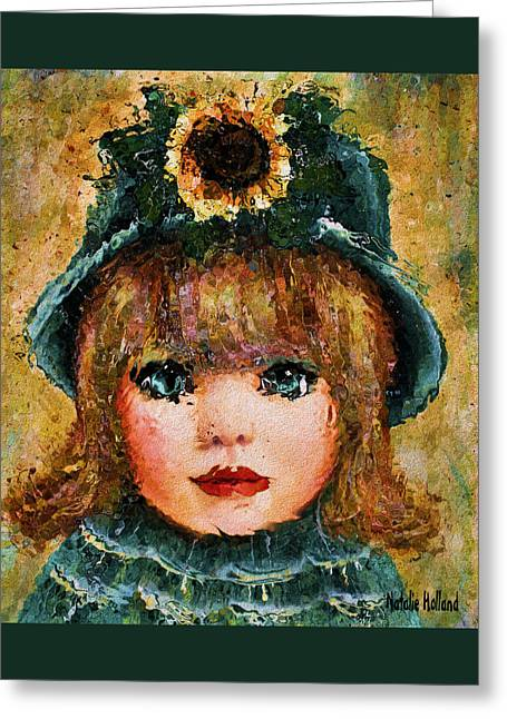 Sun Hat Mixed Media Greeting Cards - Sweet Sunshine Greeting Card by Natalie Holland