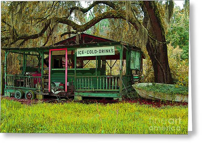 Screen Doors Greeting Cards - Sweet Tea and Mint Juleps and Moonshine Greeting Card by Maureen Tillman