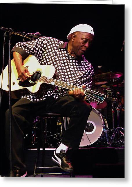 Buddy Greeting Cards - Sweet Tea Buddy Guy Greeting Card by Iconic Images Art Gallery David Pucciarelli