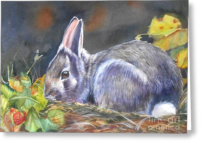 Bunny Greeting Cards - Sweet Temptation Greeting Card by Patricia Pushaw