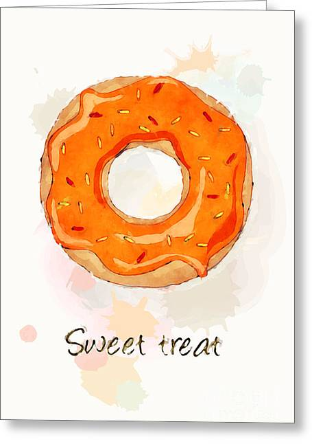Menu Photographs Greeting Cards - Sweet treat orange Greeting Card by Jane Rix