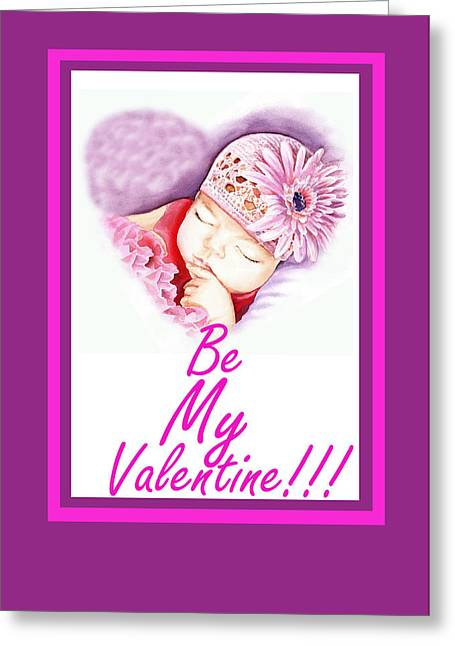 My Baby Greeting Cards - Sweet Valentine  Greeting Card by Irina Sztukowski