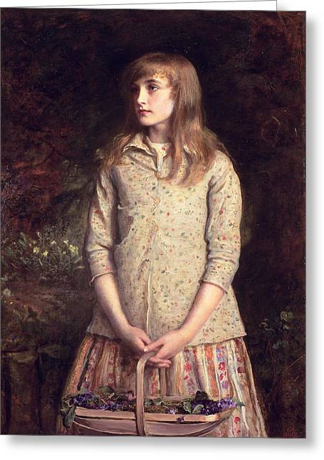 Gathering Greeting Cards - Sweetest Eyes That Were Ever Seen..., 1881 Oil On Canvas Greeting Card by Sir John Everett Millais