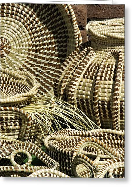 Recently Sold -  - Slaves Greeting Cards - Sweetgrass Baskets - D002362 Greeting Card by Daniel Dempster